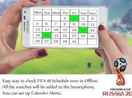 FIFA World Cup Calendar 2018 Download