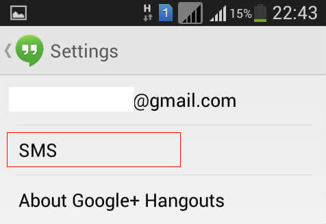 disable sms hangouts