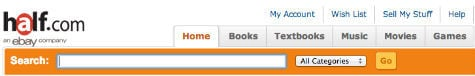 sell book at half
