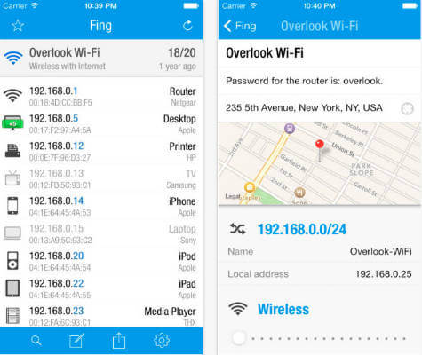 fing android app