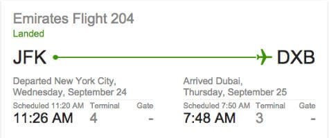 google now flight status