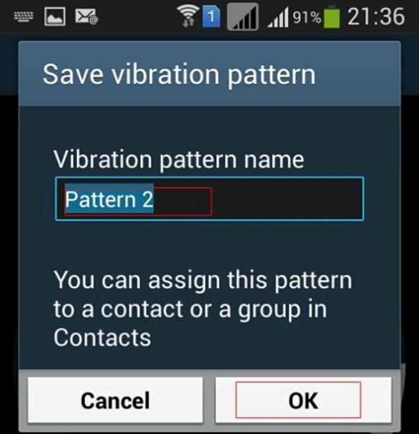 vibration pattern