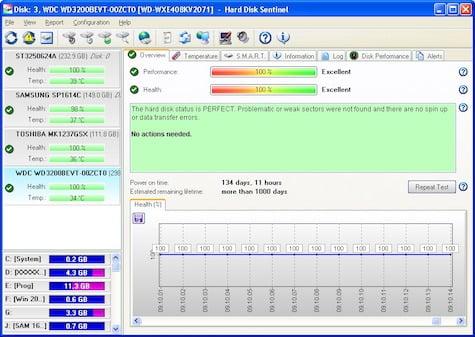 Hard Disk Sentinel SSD Tool