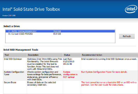 Intel SSD Toolbox Tweak