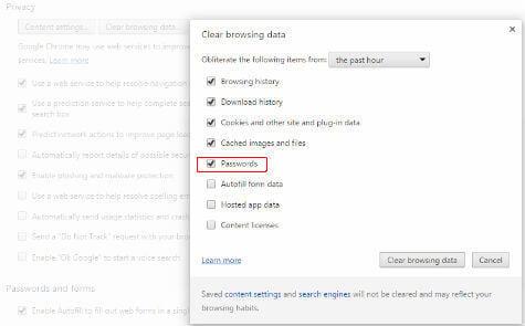 Chrome Remove Saved Passwords