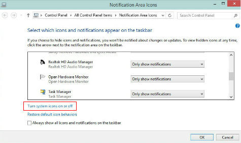 windows 10 how to clear customized windows notification icons