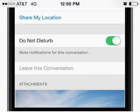 ios notification mute