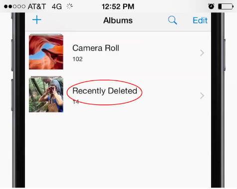 ios recover deleted photos
