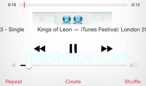 iphone headphone Skip to the Next Song