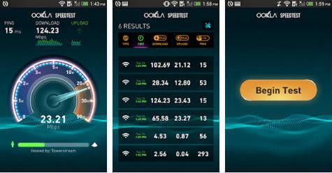 android Speedtest app