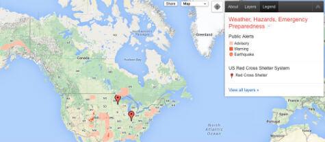 Google Crisis Map