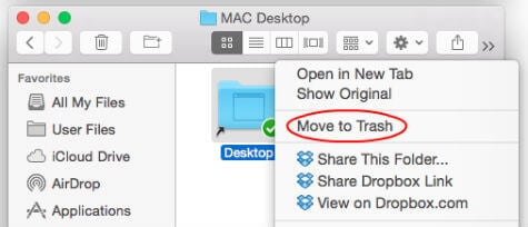 remove mac dropbox folder sync