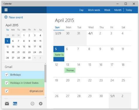 ... Calendar in New Windows 10 Calendar and Mail App – Technical Tips