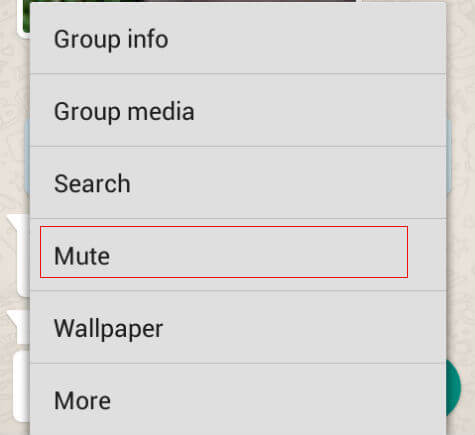 mute Whatsapp messages