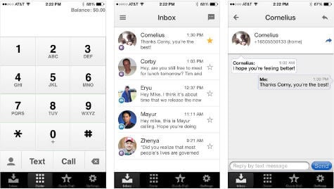 Google Voice iOS App