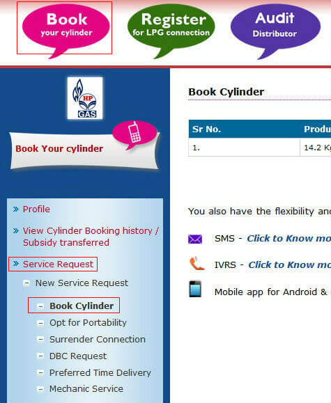 LPG online booking 2