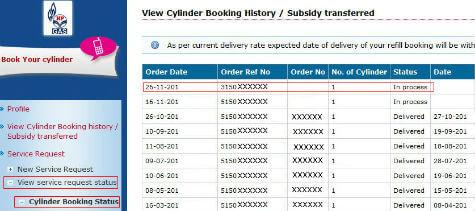 LPG online booking 6