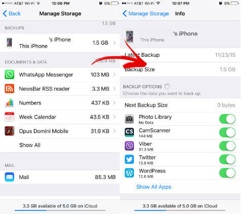 ios manage storage