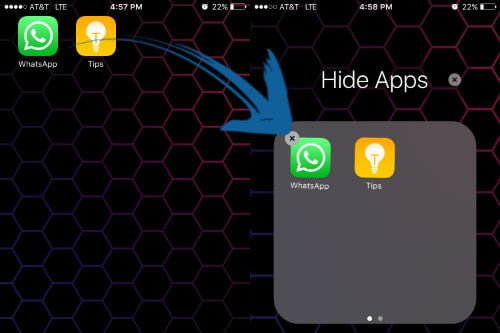 iOS apps move to folder