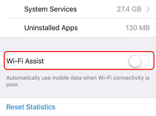 ios wi-fi assist