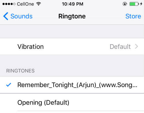 iphone select ringtone