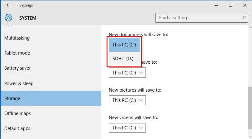 select drive windows