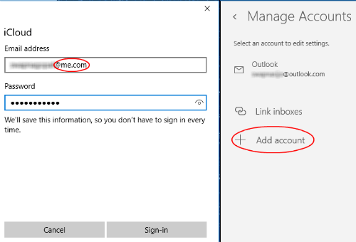 windows10 add account