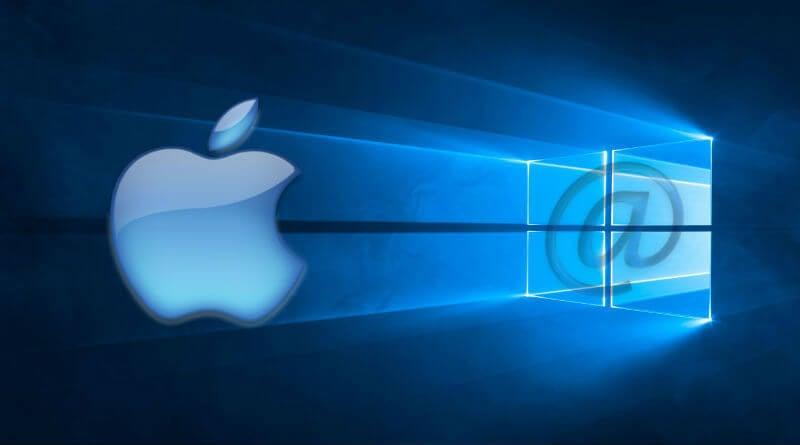 icloud email on windows10