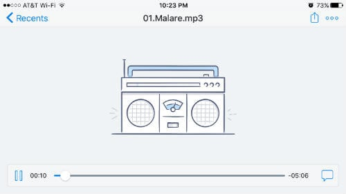 play song from dropbox
