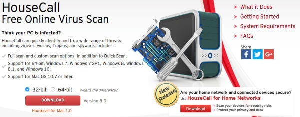 TrendMicro HouseCall Online Scanner