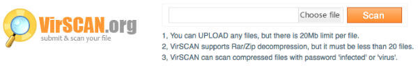 VirScan Online File Scanner