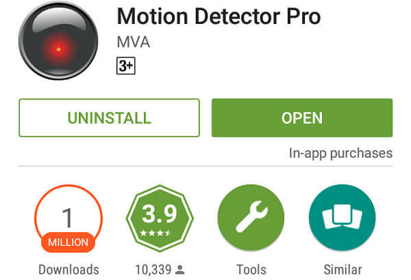 android motion detector app