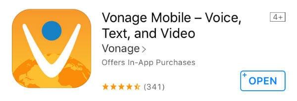 vonage ios app