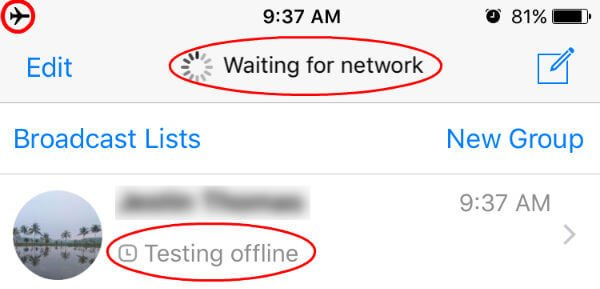WhatsApp Offline Messaging