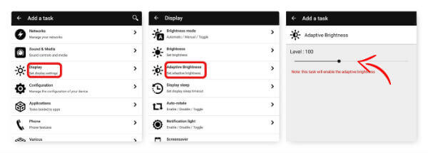 Auto Adjust Screen Brightness with NFC