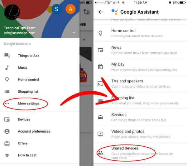 Google Home Retrain Voice Get Device