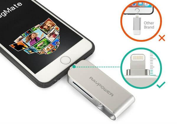 RAVPower Lightning to SD Card Reader