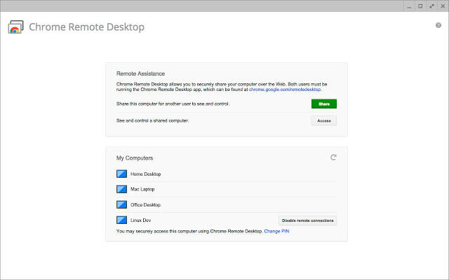 Chrome Remote Desktop