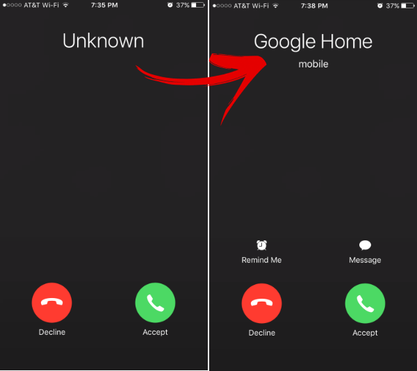 Set Google Home Number to Google Voice