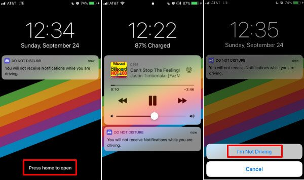 iPhone Do Not Disturb Home Message