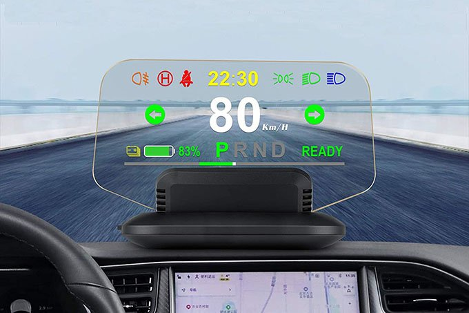 Color Tree Car HUD with Tesla Support