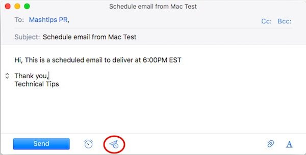 Mac Email Draft