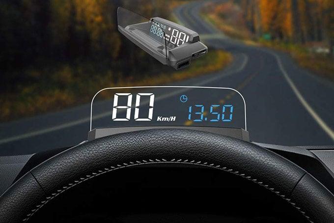 VJOYCAR R1 HUD GPS Speedometer Universal 3D Head Up Display