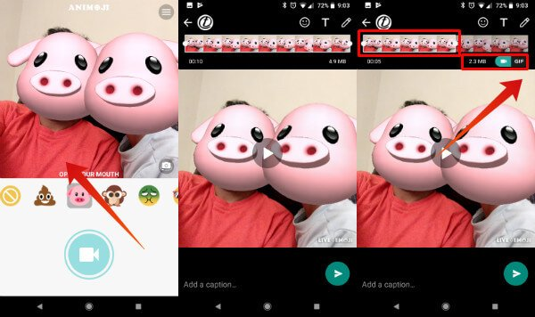 Animoji on Android WhatsApp