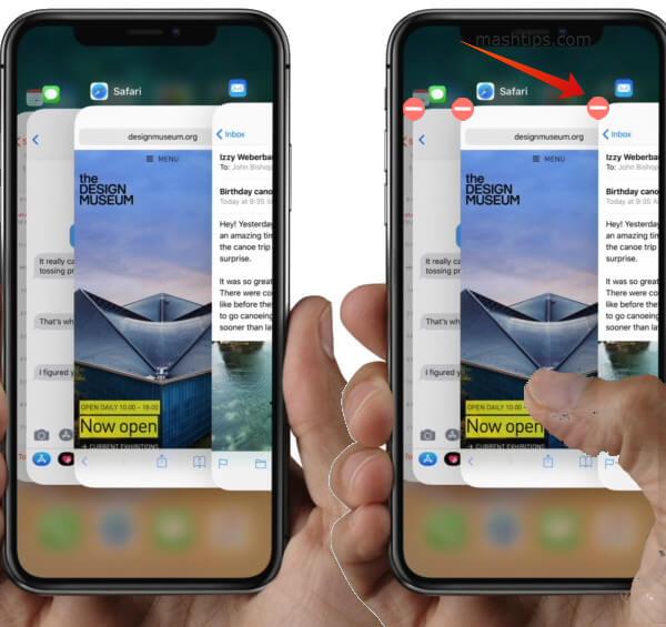 iPhone X Kill Apps