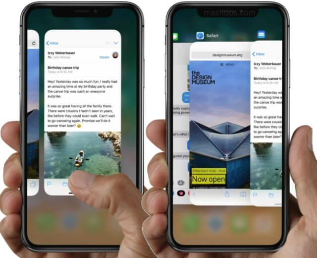 iPhone X Multitasking Apps