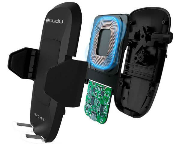 iDudu Fast Wireless Charging Car Mount Phone Holder