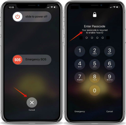 iPhone X Quick Turn Off FaceID