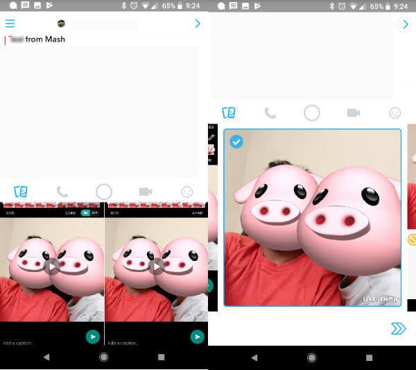 iPhoneX Animoji on Android Snapchat