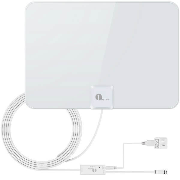 1byone Indoor Amplified HDTV Antenna(50 Mile)